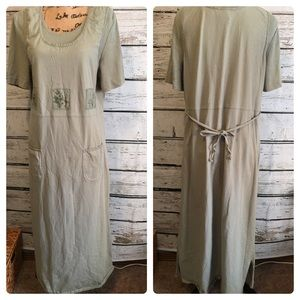 Vintage Nina Piccalino 90's Sage Green Dress